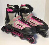 Girls Schwinn Adjustable Roller Blades Youth Sz 5 6 7 8 Pink Black Inline Skates