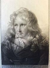 Jacques Henri Bernardin de Saint-Pierre écrivain gravure Lignon 1818 XIXème