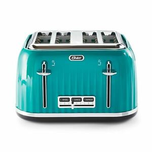 Oster 4 Slice Toaster with Textured Design and Chrome Accents, Impressions Colle