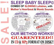 SLEEP BABY SLEEP MUSIC BOX - CD & mp3 s - Heartbeat Womb Sounds LULLABIES Babies