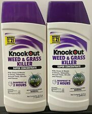 2 32-ounce bottles Knock Out Super Concentrate Weed & Grass Killer  NEW - Sealed
