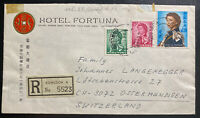1966 Kowloon Hong Kong Hotel Fortuna Cover To Ostermundigen Switzerland