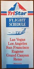 TRISTAR AIRLINES - SYSTEM TIMETABLE - 7 APR 96