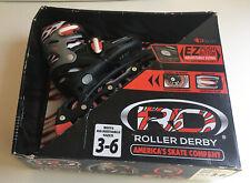 New In Box Roller Derby Blaze Youth Adjustable Inline Skate Size 3-6 Red & Black
