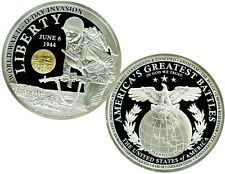WORLD WAR II – D-DAY INVASION COMMEMORATIVE COIN PROOF VALUE $99.95