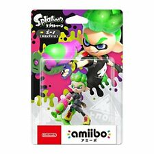 Nintendo Amiibo Splatoon Inkling BOY Neon Green Switch Wii Rare
