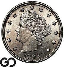 1903 Liberty Nickel, V Nickel, Lustrous Gem BU++