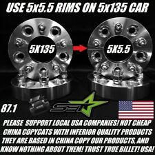 5X135 TO 5X5.5 WHEEL ADAPTERS 1.5 INCH | USE DODGE RIMS ON FORD 5X135 TO 5X139.7