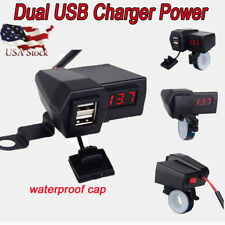 Waterproof Cell Phone USB Charger For Kawasaki Vulcan 1500 Nomad Classic