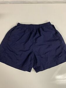 Patagonia 100% Nylon Shorts Navy Blue Side Pockets Drawstring Waist Womens Small