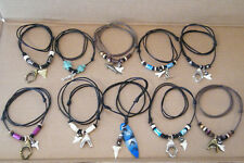 10 SHARK Teeth Necklaces 10 Styles! JAWS OPEN! Surfer Choker Adjustable Size NEW