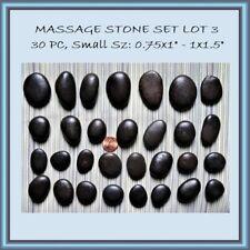 30 Pc Set Hot Stone Massage Body Therapy Black Basalt Chakra Opening Spa Lot #3