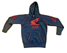 Fox Honda Racing Hoodie Mens Large Black Red Embroidered Sweatshirt