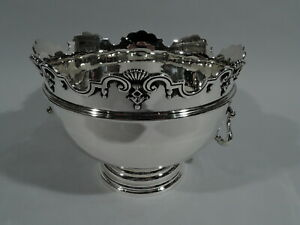 George V Bowl - Antique Edwardian Centerpiece Monteith - English Sterling Silver