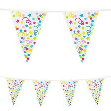 10m Plastic Bunting Confetti Birthday Party Decoration Garland Banner Pennant