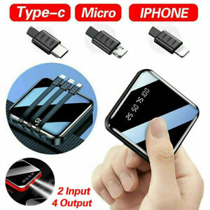 Portable 900000mAh Power Bank Mini USB Pack LED Battery Charger For Mobile Phone