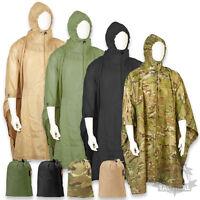 US ARMY STYLE WATERPROOF RIPSTOP PONCHO BASHA MILITARY NYLON