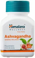 5 Himalaya Ashwagandha(Withania somnifera) Herbal 60 Tablets for body and mind