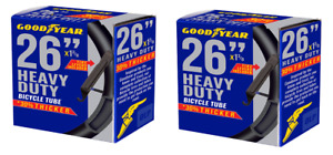 """2 Pack Of - GoodYear Bicycle Inner Tube 26""""x1.9"""" to 2.3"""" Heavy Duty 30% Thicker"""