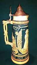 Antiker Bierkrug Schankkanne Steinzeug Keramik um 1900 Höhe 36cm  ca. 2 Liter