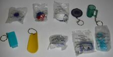 Tupperware Consultant Lot of 10 Keychains Bowl Shape O Toy Water Bottle Mug