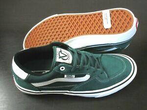 Vans Mens Rowan Zorilla Pro Pine Green White Skate shoes Suede Canvas size 9.5
