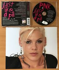 PINK,JUST LIKE A PILL,VINTAGE 2002 VIDEO/CD,PLUS GENUINE HAND SIGNED PHOTO,C.O.A