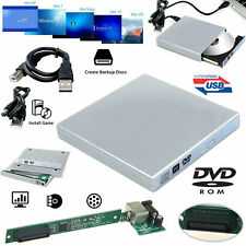 USB 2.0 External DVD Player Drive Slim DVD-ROM CD/DVD Reader Copier Drive UK