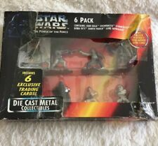Vintage 90s Star Wars Power of the Force 1995 Die Cast Metal Collectibles 6 pc