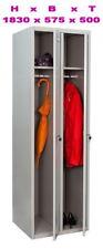 Spind Umkleideschrank Garderobenschrank,Personalschrank Kleiderspind , 2-Türig ,