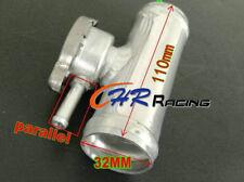 "FOR 32mm 1-1/4"" O.D Aluminum Inline Radiator Hose Pipe Filler Neck & Free Cap"