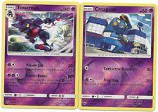 RARE TOXICROAK & CROAGANK - 2 EVO BURNING SHADOWS Pokemon Card-REV HOLO-MINT