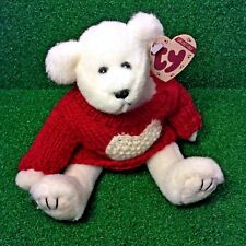 MWMT Ty Attic Treasures Nicholas The Bear 1998 Retired Jointed Valentine's Plush