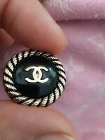 STAMPED  Chanel button 1 pieces black  cc logo size 23  mm  1 inch