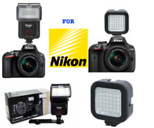 HD SPEED LIGHT FLASH + 36 LIGHT LED FOR NIKON COOLPIX P1000 2-3 DAY DELIVERY