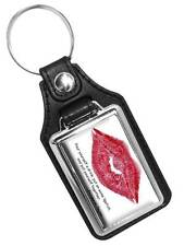 POUR YOURSELF A DRINK MARILYN MONROE RED LIPS FAUX LEATHER KEY RING KEYCHAIN