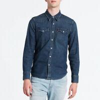 Levi's Blue Barstow Denim Shirt Size S / M