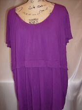 Daisy Fuentes Purple Stretch Top Size 3x