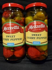 2 Jars Of Mezzetta Sweet Cherry Peppers 16 Fl Oz