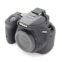 Silicone Camera Body Cover Case Skin For Nikon D5500 D5600 Bag Black