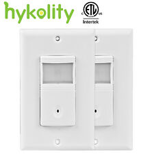 Vacancy Occupancy PIR Motion Sensor Wall Switch Automatic and Manual ON/OFF 2pcs