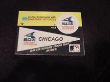 VINTAGE Chicago White Sox 1980's Fleer Pennant Sticker Card, HI GRADE!!