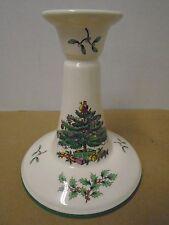 "Spode Christmas Tree Candlestick Dish England S 3324 R Green 5"""