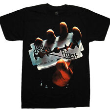 Judas Priest-British Steel-oficial hombre Negro T-Shirt