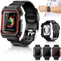 Hot Accessory Rugged Case Strap Band Cover For iWatch Apple Watch 42mm 38mm