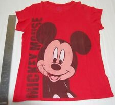 Disney Micky mouse t-shirt red short sleeve size is Junior XXL
