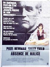 """ABSENCE DE MALICE (ABSENCE OF MALICE)"" Affiche originale (Paul NEWMAN)"