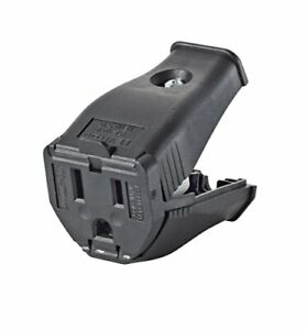 Leviton 3W102-E Clamptite Hinged Cord Outlet 2-Pole 3-Wire 125V 15A Thermopla...