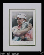 Graeme McDowell/N Irish Golf/Number Ltd Edition Print Signed by Doig/US Open/New