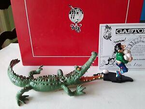 Figurine bd pixi Gaston lagaffe poursuivit par crocodile ref 4742 bte+certi